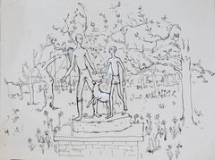 Peter Collins ARCA A Statue; Tobias and the Archangel Raphael - sketch