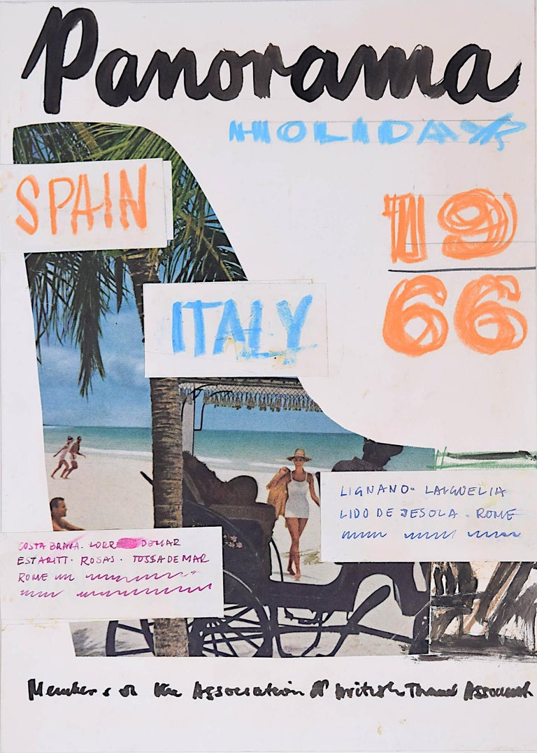 Peter Collins ARCA Design for Panorama Holidays Brochure 1966 Spain Italy - Art by Peter Collins ARCA