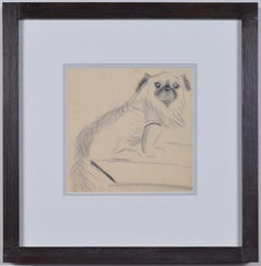 Clifford Ellis William the Pug pencil sketch Mid Century Modern British Art
