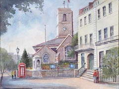 Chelsea Old Church London watercolour Angela Stones Wedding Present