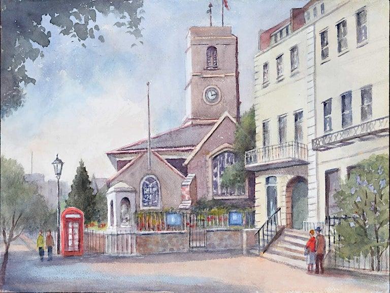 Chelsea Old Church London watercolour Angela Stones Wedding Present - Art by Angela Stones