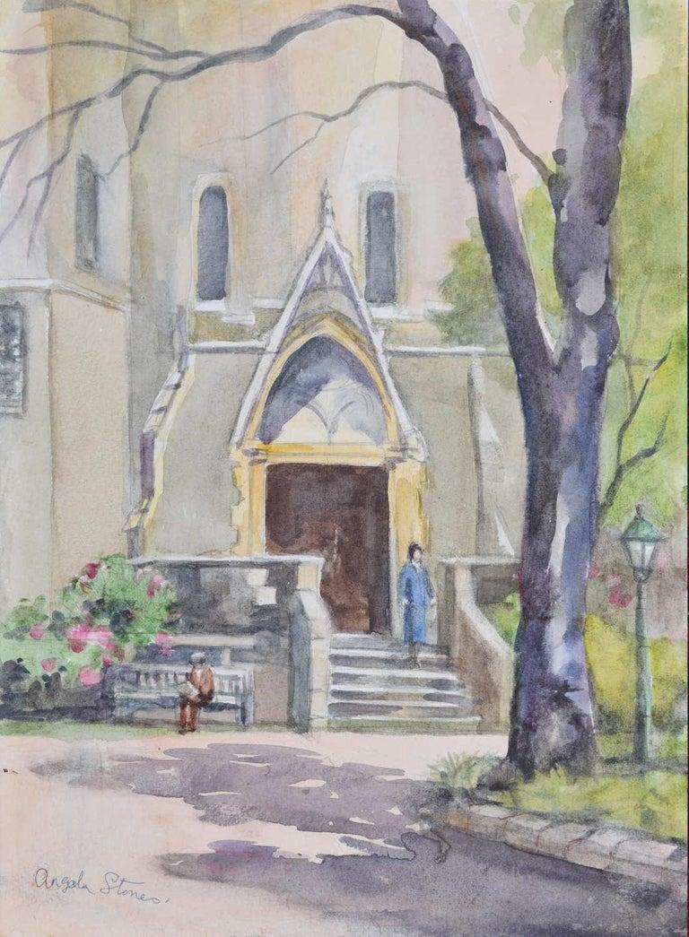 Holy Trinity Church Brompton London watercolour Angela Stones Wedding Present - Art by Angela Stones