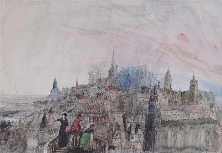 Prof Sir Albert Richardson PRA Architect Caprice Dawn of the Renaissance - Art by Albert Richardson