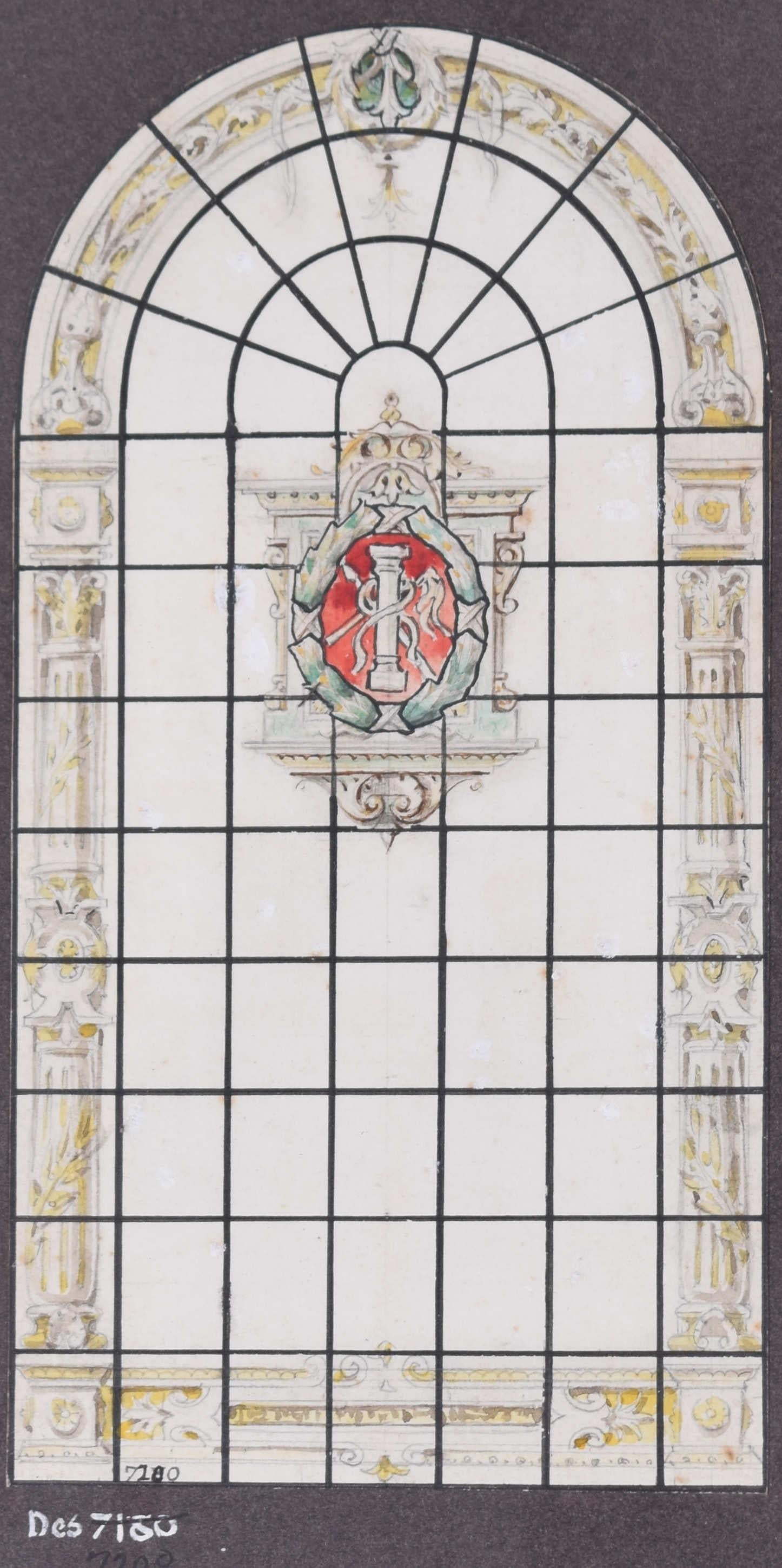 Stained Glass Window Passion watercolour design Florence Camm Church Cathedral