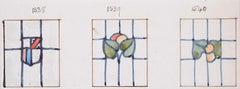 Three Stained Glass Windows Domestic Design Florence Camm Arts & Crafts TW Camm