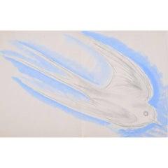 Clifford Ellis Swallow watercolour Modern British Art Wildlife Bird Migration