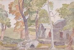 Claude Muncaster Shap Farmhouse Cumbria Watercolour England Britain art painting