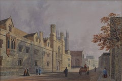 George Pyne (1800-1884) Merton College, Oxford Watercolour c. 1850s