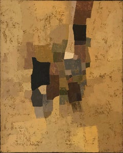 Miles Cole Campania Oil Painting 2020 Abstract Yellow Brown Modern British Art