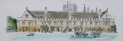 David Gentleman Magdalen College Oxford Watercolour 1980
