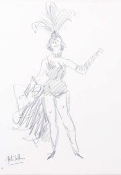 Exotic Dance: Peter Collins ARCA pencil sketch theatre ballet street performer