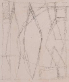 Clifford Ellis Mid-Century Abstract drawing Modern British Art