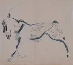 Clifford Ellis Goat Mid-Century sketch Modern British Art