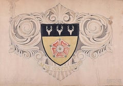 D.L Hadden Design for Coat of Arms for Derby County Council Chambers 1956