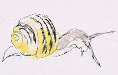 Rosemary Ellis Snail X Watercolour Modern British Art Wildlife Mid Century
