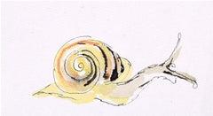 Rosemary Ellis Snail XVI Watercolour Modern British Art Wildlife Mid Century