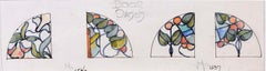 Stained Glass Window Design for Door Panels TW Camm Florence Camm Watercolour
