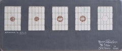 5 Stained Glass Window Design Panels TW Camm Florence Camm Watercolour