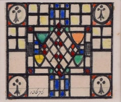 Stained Glass Window Design Florence Camm TW Camm Watercolour Arts and Crafts