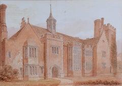 Horham Hall Essex 1830 John Chessell Buckler (1793-1894) Watercolour