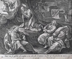 Theodoor Galle Martin de Vos 17th Century Engraving Drinking from Jesus' Cup