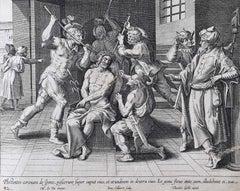 Theodoor Galle Martin de Vos 17th Century Engraving The Soldiers Mock Jesus