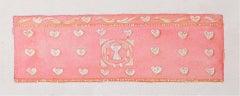 Reginald Hallward Rose Pink Altar Frontal Design Hearts & Chalice Gouache c.1920