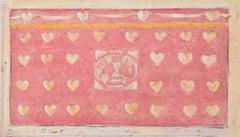 Reginald Hallward Original Design for Rose Pink Altar Frontal c.1910 Watercolour