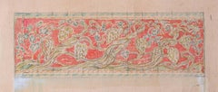 Reginald Hallward Embroidery Design for Altar Frontal Watercolour Edwardian 1920