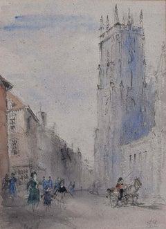 Prof Sir Albert Richardson PRA York Minster 1960 Watercolour English Cathedral