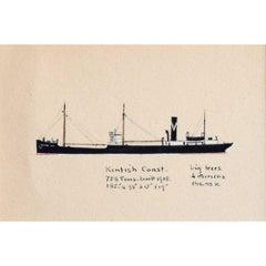 Laurence Dunn, SS Kentish Coast (c.1925) Merchantman Tramp Steamer