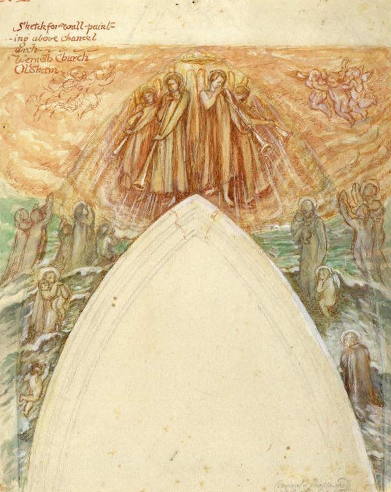 Reginald Hallward: Design: Church Interior Werneth Church Oldham Ecclesiastical - Art by Reginald Hallward