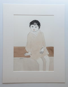 Handmade Paper Figurative Drawings and Watercolours