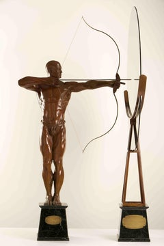 Purpose: The Archer by Walter P Brenner - Male Figure Bronze Sculpture, Allegory