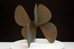 Barricada #11 b S, Abstract Bronze Sculpture