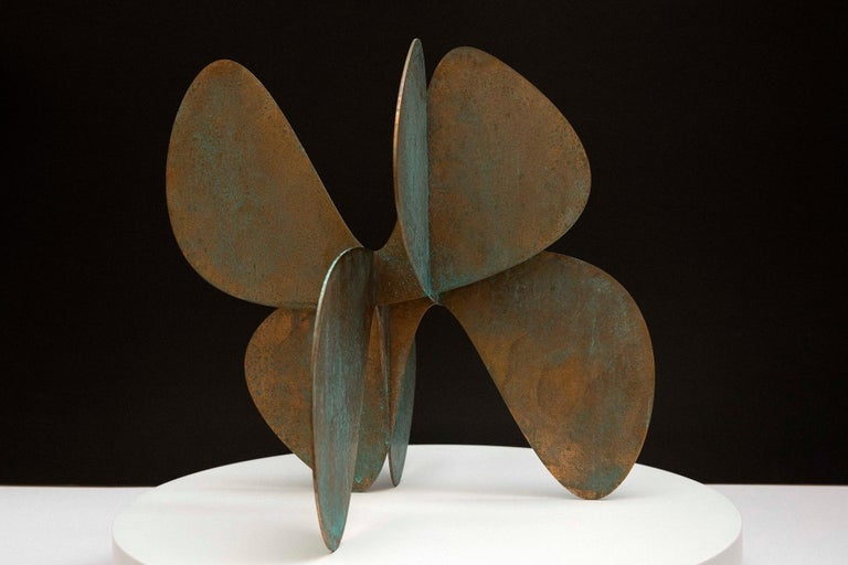 Alejandro Vega Beuvrin Abstract Sculpture - Barricada #11 b S, Abstract Bronze Sculpture