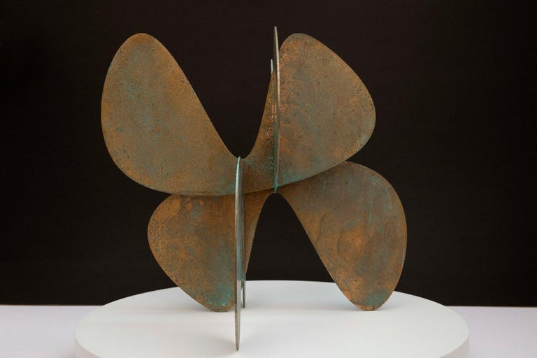 Barricada #11 b S is a bronze sculpture by contemporary Venezuelan artist Alejandro Vega Beuvrin. The bronze sheets are 3 mm thick. Limited edition of 8 + 4 A.P. In a minimalists' style and influenced by his architectural knowledge, the artist views