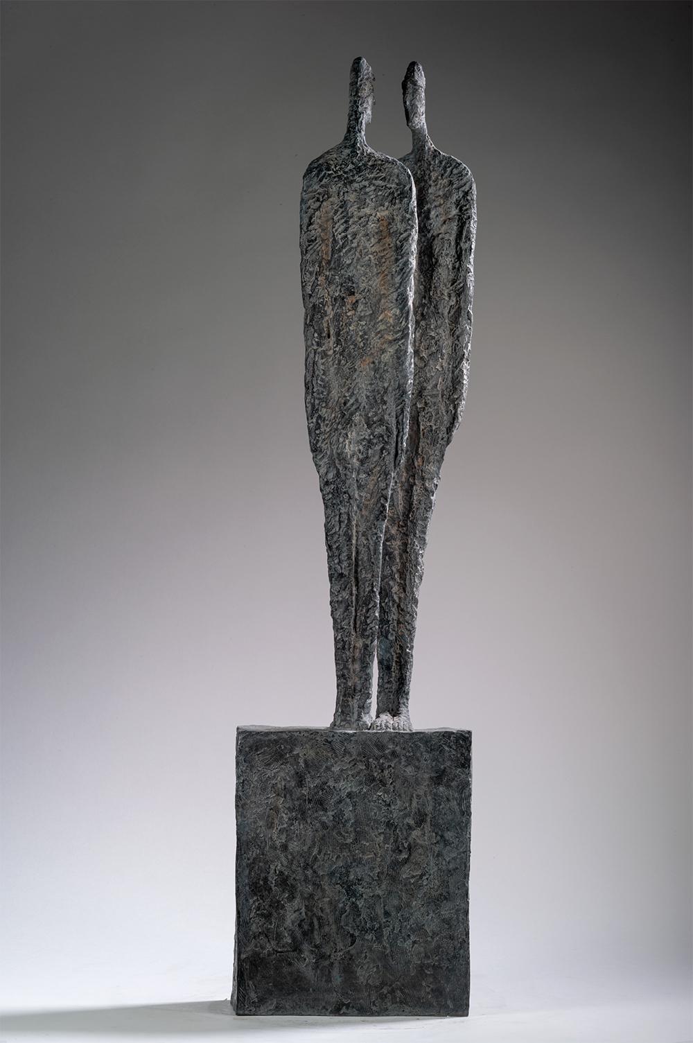 The Great Secret by Martine Demal - Contemporary bronze sculpture, human figure