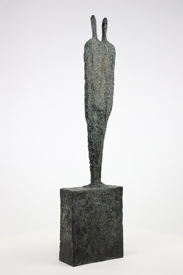 The Great Secret by Martine Demal - Contemporary bronze sculpture, human figure For Sale 2
