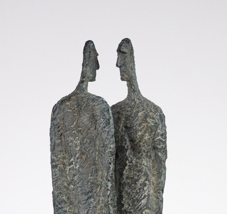 The Great Secret by Martine Demal - Contemporary bronze sculpture, human figure For Sale 3