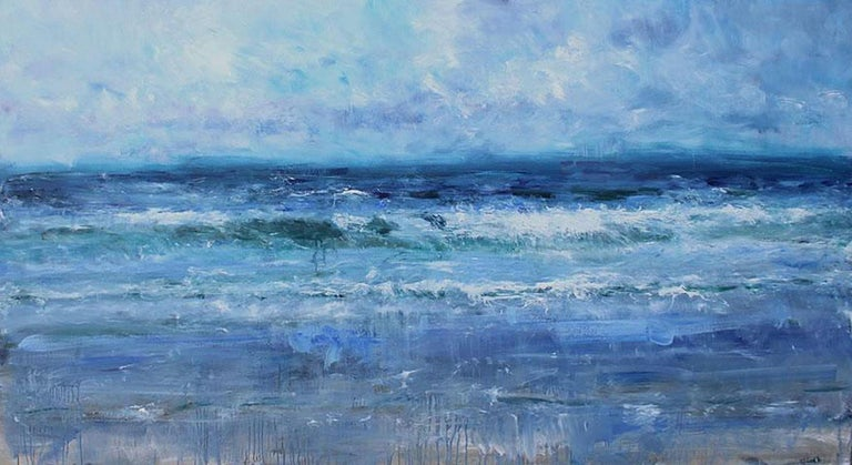 Jonathan Shearer Landscape Painting - High Tide, Scottish Seascape Painting
