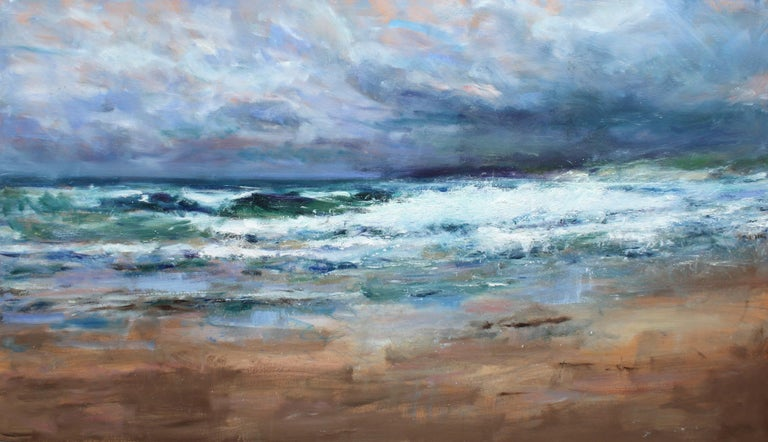 Balnakeil is a landscape painting by contemporary Scottish artist Jonathan Shearer. Often inspired by the more impetuous side of nature, in this painting Jonathan Shearer evokes the Atlantic coast off the hamlet of Balnakeil, up in the north of