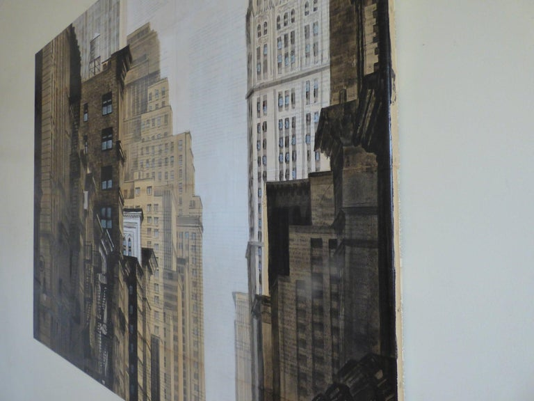 Prince St and Broadway (New York) - Urban Landscape Painting For Sale 2