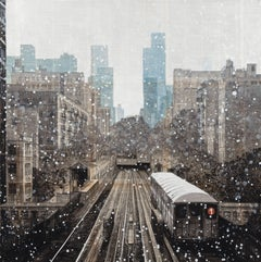 122nd and Broadway (New York) - Urban Landscape Painting