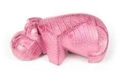 Pink Kioveo, hippopotamus sculpture