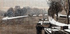 Velours - Urban Landscape Painting (Paris)