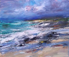 Atlantic Swell, Northern Shore - Scottish Landscape Painting