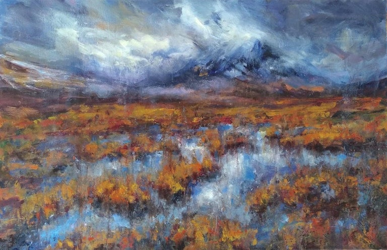 Jonathan Shearer Figurative Painting - After the rain, Buachaille Etive Mor - Scottish Landscape Painting