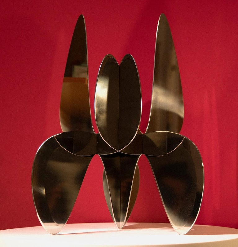 Barricada #9 aip M2, Abstract Sculpture, Stainless Steel For Sale 1