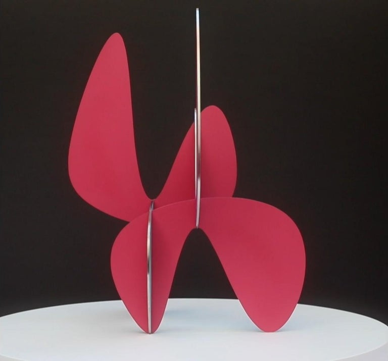 Barricada #9 aic 3S, Abstract Sculpture, Painted stainless steel For Sale 3